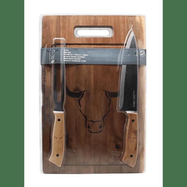 Set Tabla   Cuchillo   Tenedor Prm Wayu