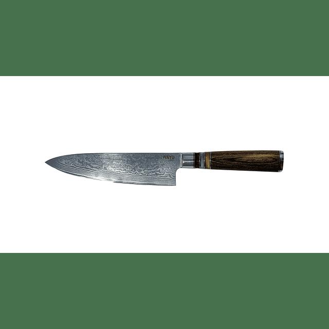 Cuchillo Damascus Brown Pakka Wayu Limited