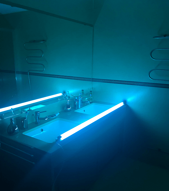Régua germicida desinfeção T8 TUV 36W 1200mm c/ cabo 3 mtrs byWATT