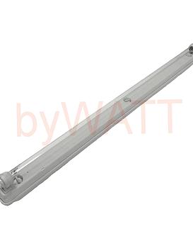 Régua c/ suportes estanques germicida desinfeção T8 TUV 36W 1200mm c/ cabo 3 mtrs byWATT