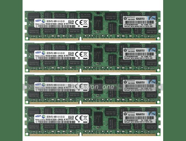 Memoria Ram 8gb / PC3 - 14900R DDR3 - 1866Mhz / HP Server / Ecc Registered / 712382-071 715273-001