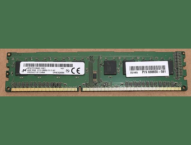Memoria Ram 4gb / PC3 - 12800U DDR3 - 1600Mhz / HP