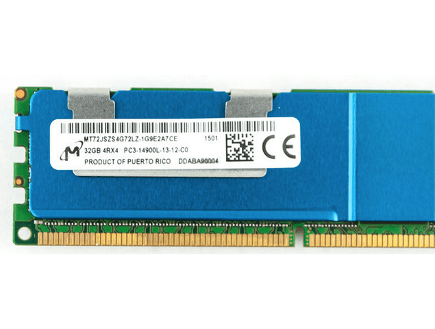 (A Pedido) Memoria Ram 32gb / PC3 - 14900L DDR3 - 1866Mhz / Ecc Registered Servidor / LRDimm / 712384-081 715275-001 708643-B21 / Apple Macpro 2013