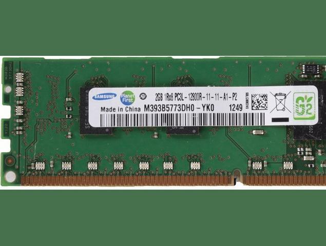 Memoria Ram 2gb / PC3 - 12800R DDR3 - 1600Mhz / HP Server / Ecc Registered