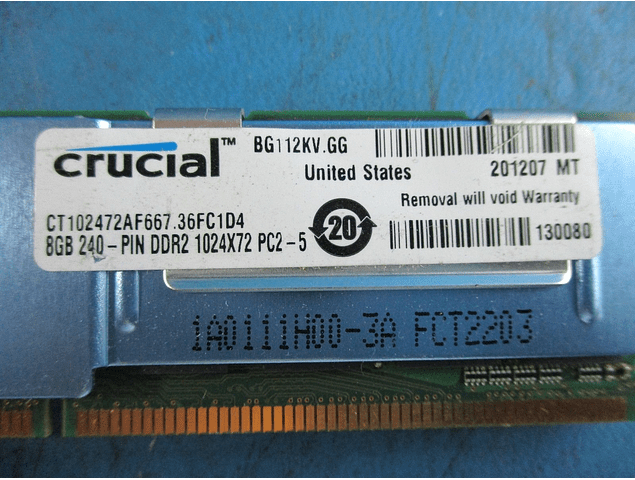 Memoria Ram 8gb / PC2 - 5300F  DDR2 - 667mhz / FB Dimm Fully Buffered