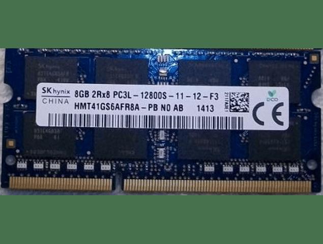 Memoria Ram 8gb / PC3 - 12800S / 1600mhz SODIMM / 204 pin Notebook, iMac