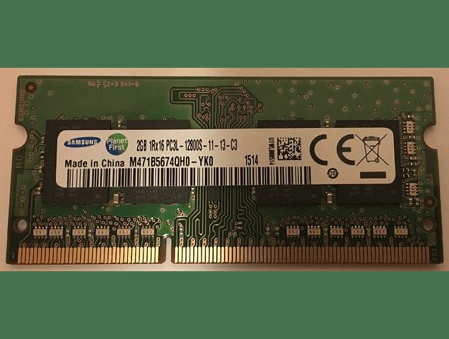 Memoria Ram 2gb / PC3 - 12800S DDR3-1600Mhz 204 pin Notebook