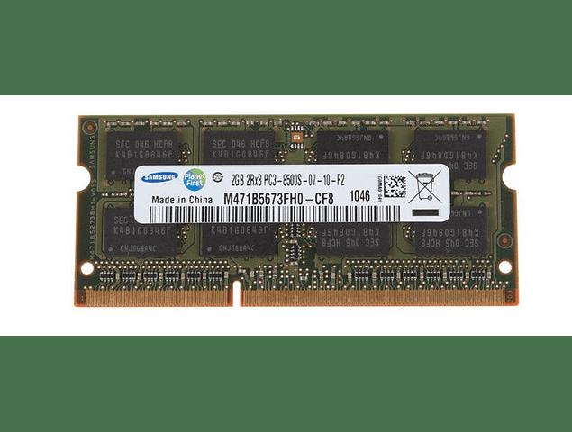 Memoria Ram 2gb PC3-8500S SODIMM  DDR3-1066mhz Notebook 204 pin