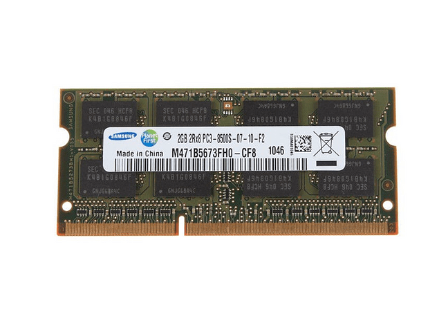 Memoria Ram 2gb / PC3-8500S SODIMM  DDR3-1066mhz Notebook 204 pin