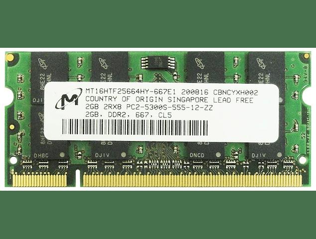 Memoria Ram 2gb / DDR2 - 5300S / 667 SODIMM / 200 pin Notebook, Macbook pro 2009
