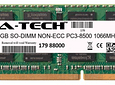 Memoria Ram 8gb / PC3-8500S SODIMM DDR3-1066mhz 204 pin Notebook