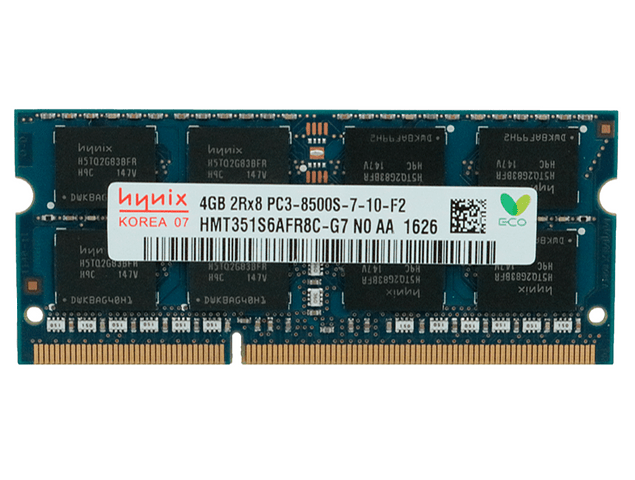 Memoria Ram 4gb / PC3-8500S SODIMM DDR3-1066mhz 204 pin Notebook