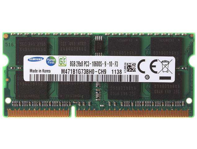 Memoria Ram 8gb / PC3-10600S SODIMM DDR3-1333Mhz 204 pin Notebook