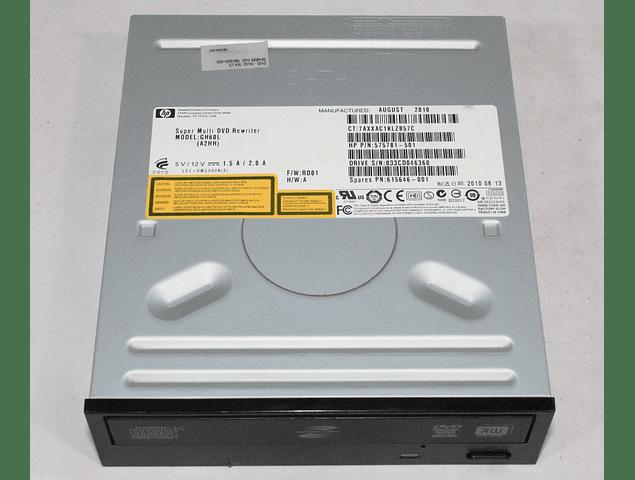 Lector Grabador CD y DVD RW / HP / Lightscribe / Gh60l 575781-501 / Super Multi Dvd Rw Cdrw Sata