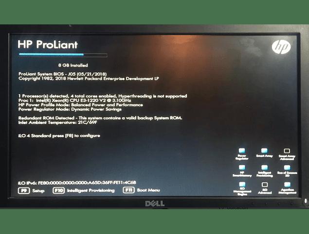 Servidor / HP Server / DL320e G8 Gen8 / 8gb. 2 x 600Gb 15K SAS / Intelå XEONå E3-1220 v2 CPU @ 3.1GHz  / 4-core / Servidor Microsoft Linux HP