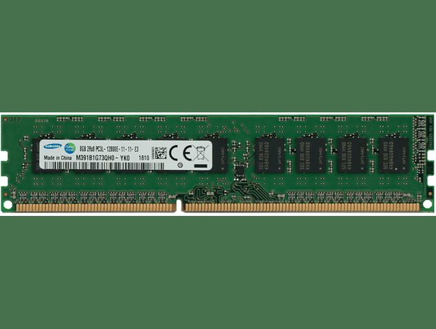 Memoria Ram 8gb / 2Rx8 PC3L - 12800E DDR3 - 1600Mhz /  Ecc Unbuffered / 715281-001 / IBM 47J0217