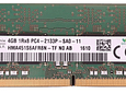 Memoria Ram 4gb / 1Rx8 PC4 - 17000S PC4 - 2133P DDR4 - 2133Mhz / Notebook Macbook Pro iMac / 1.2 volts / 260 Pin Unbuffered Non ECC RAM SO-DIMM Laptop Memory