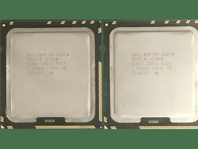 Par Identico de CPU Intel Xeon X5670 6-Core 2.93GHz 12MB 6.4GT/s LGA1366 SLBV7 Server CPU Processor