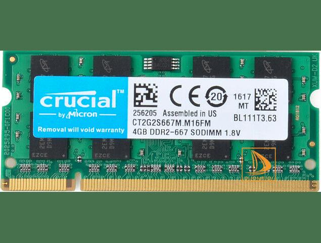 Memoria Ram 4gb / DDR2 - 5300S / 667 SODIMM / 200 pin Notebook, Macbook pro 2009