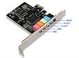 Tarjeta de Sonido PCI-E express X1 4/6 canales 5.1 Factor de Forma Peque_a SFF