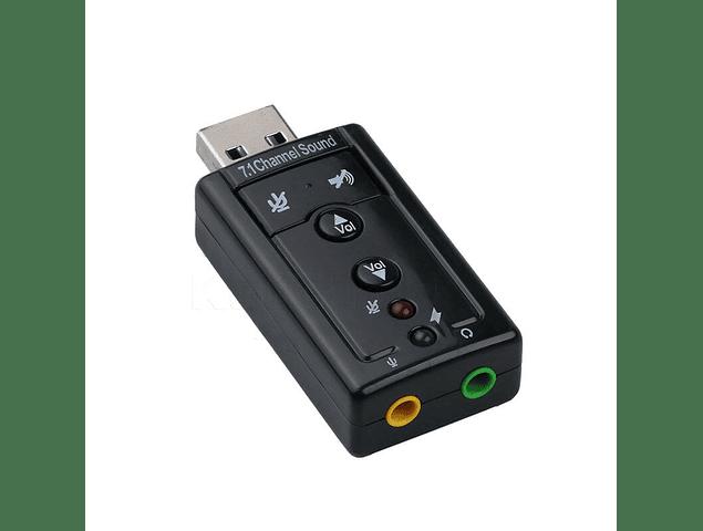 Tarjeta de Sonido USB 7.1 8 canales USB 2.0