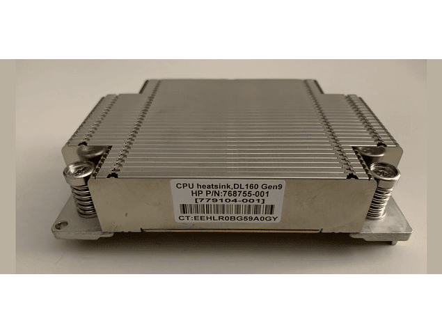 Disipador CPU HP DL160 G9 Xeon Heatsink 768755-001 779104-001