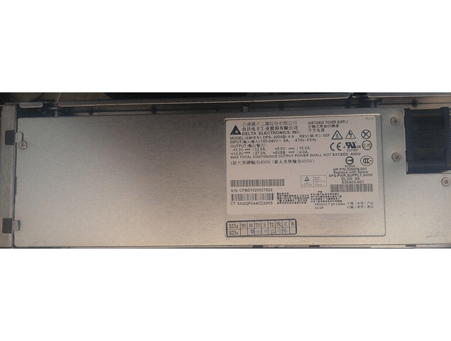 Fuente de poder HP ProLiant DL120 G7 G6 Server 400W Power Supply Delta DPS-400AB-4 A  509006-002 536403-001