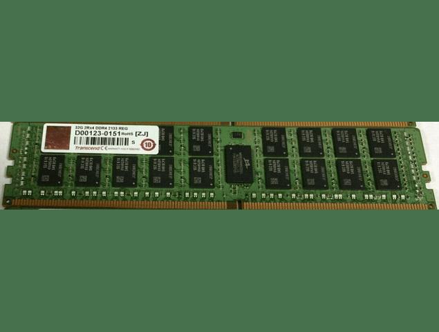 (A Pedido) Memoria Ram 32gb / 2Rx4 / 4DRx4 PC4 - 17000R / PC4 - 2133P / DDR4 - 2133Mhz / HP Server / Ecc Registered / 288pin