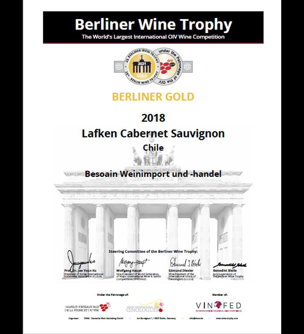 LAFKEN CABERNET SAUVIGNON 2018 X 6 $44.940 (AHORRA 42%)