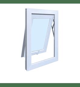 Ventana Proyectante PVC / color blanco / Termopanel (medidas)