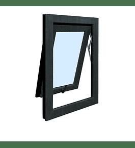Ventana Proyectante PVC / color antracita / Termopanel (medidas)