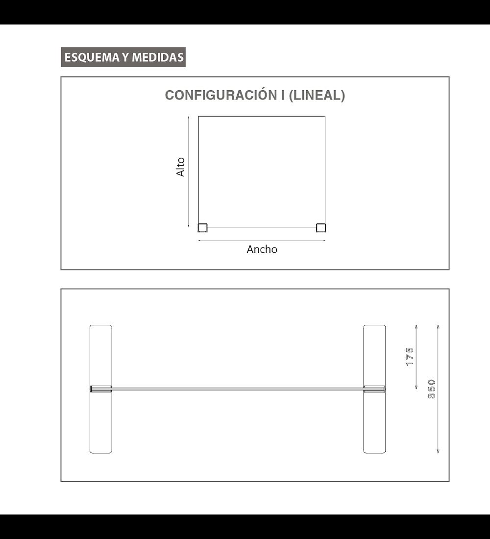 Separador anticontagio Lineal - Top Gap