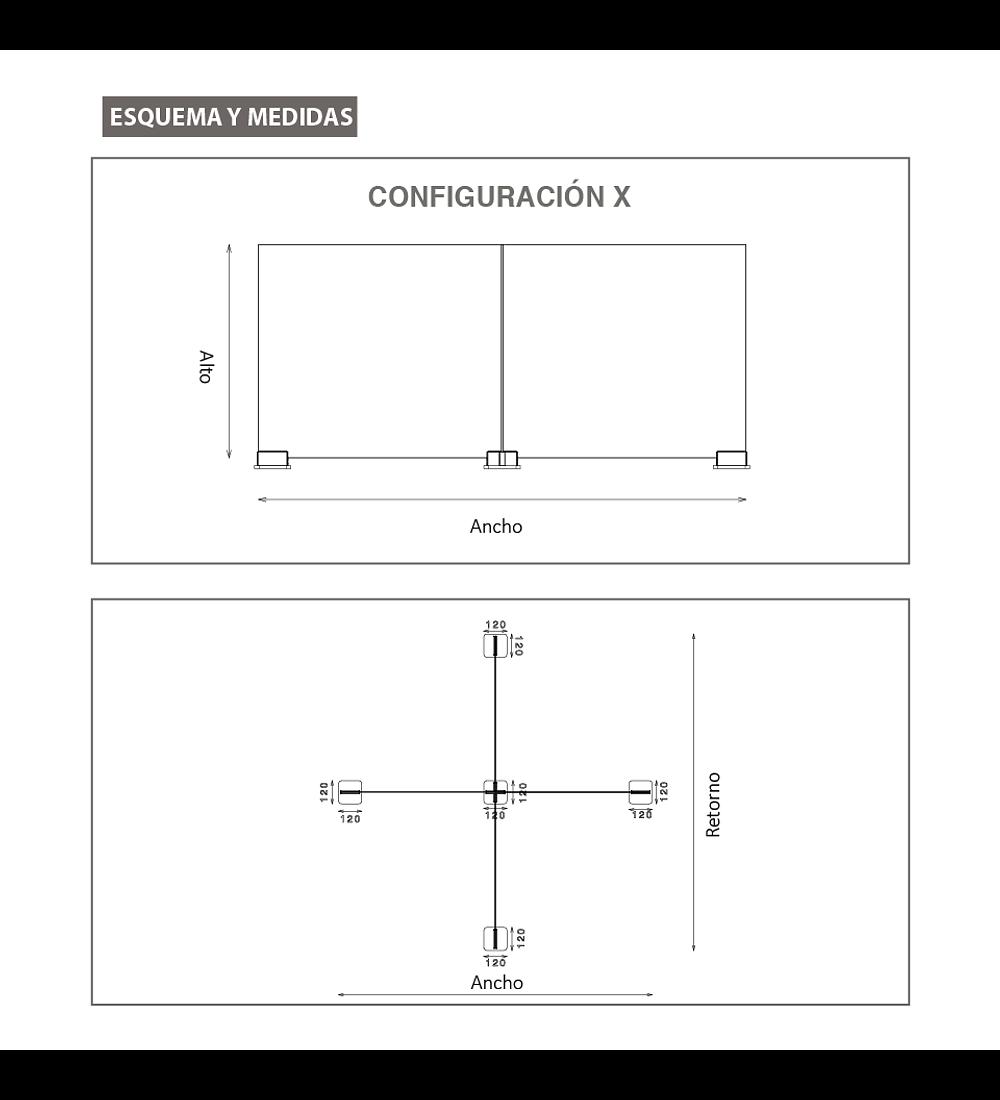Separador anticontagio Modelo X - Top Gap