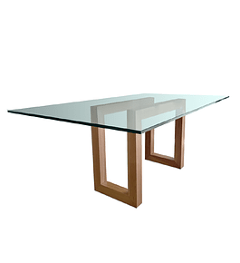 Mesa Comedor con base de Madera modelo Q