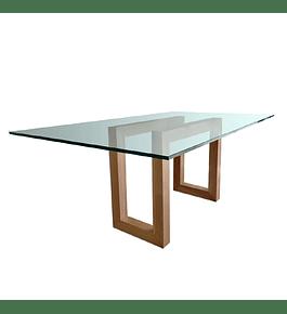 Mesa Comedor con base de Madera modelo Lemu