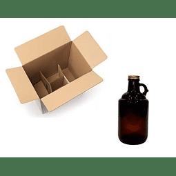 Growler 1 L + Tapa (caja x 18 unidades)