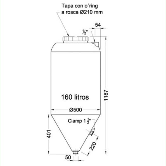 Fermentador INFINITY 160 L