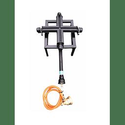 Quemador Cruz Alta Presión 25x25 [Hasta 150 Litros]