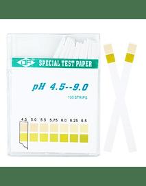 Papel pH (4.5 - 9.0) 100 Tiras