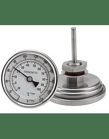 Termómetro Bimetálico Olla (0-100)°C