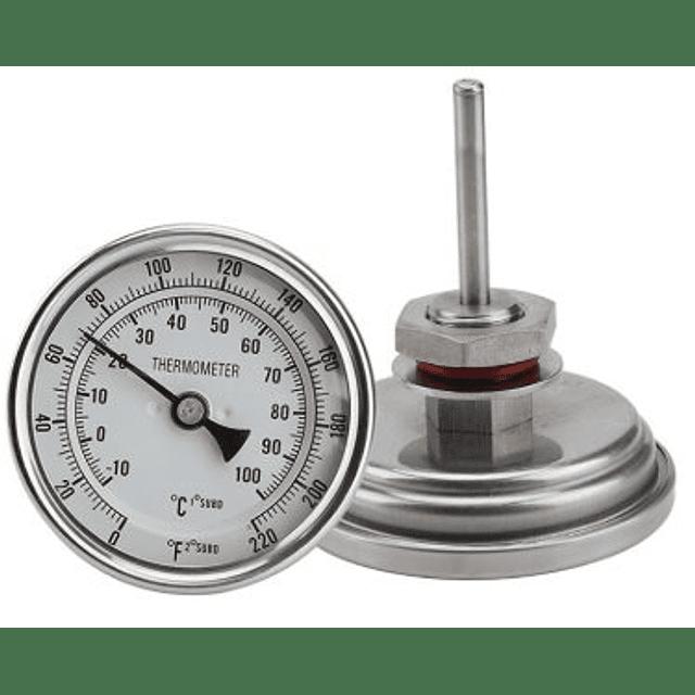Termómetro Bimetálico para Olla (0-100)°C