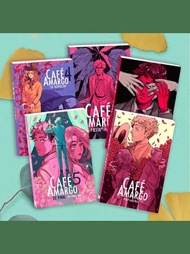 Pack 5 tomos Café Amargo