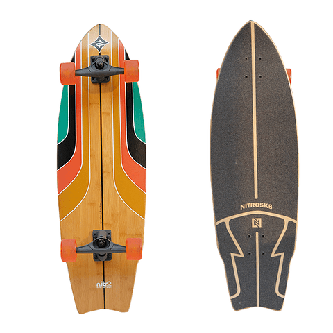 NITRO SURFSKATE RAINBOW SURF - 34''