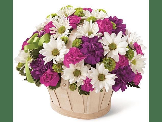 Canastillo de Flores Mixtas