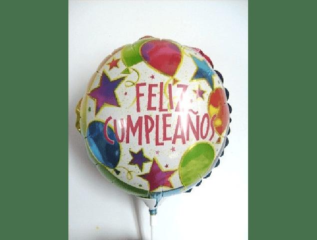Globo Metálico Feliz Cumpleaños