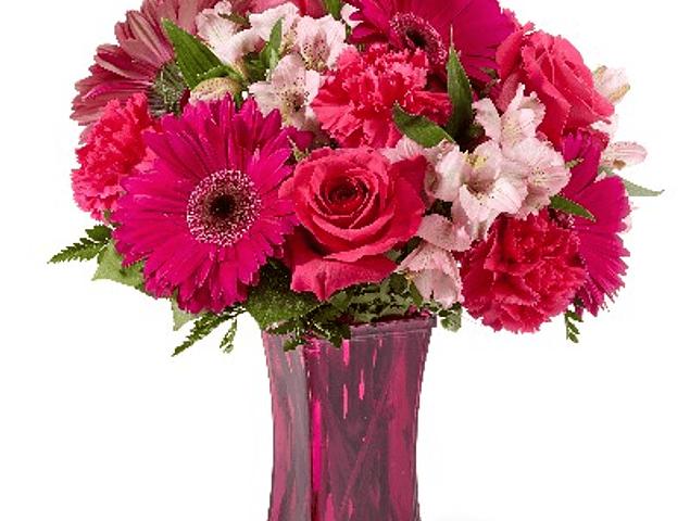 Mix de flores en tono fucsia