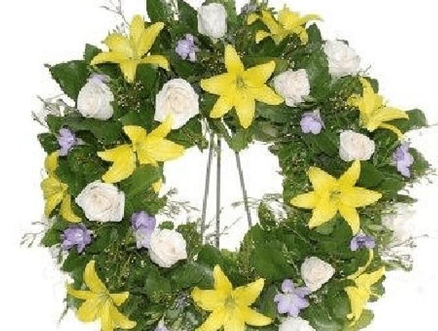 Corona de Flores 2 tonos