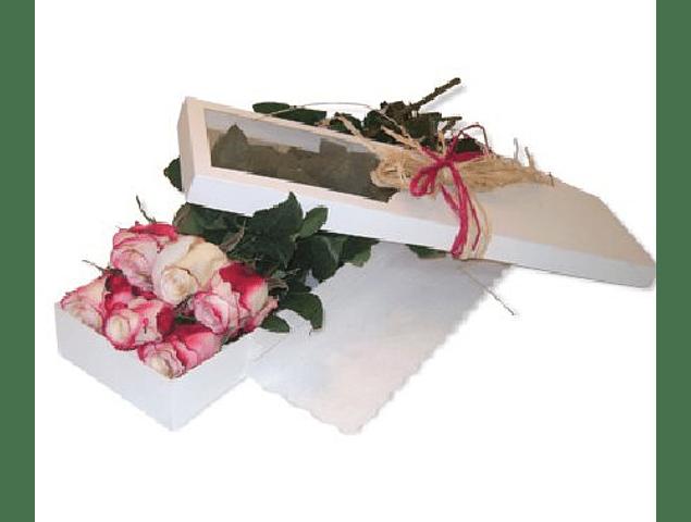 Caja Rústica de 6 Rosas