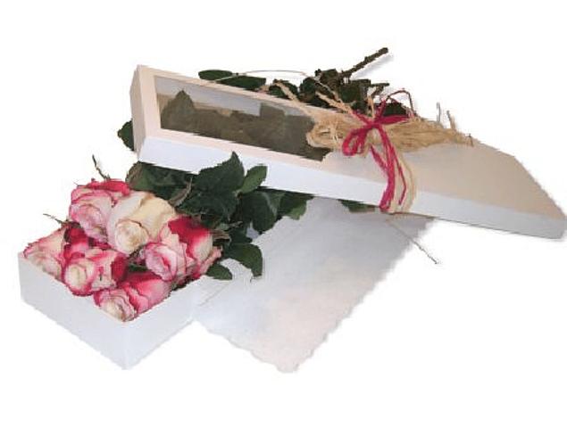 Caja Rustica de 6 Rosas