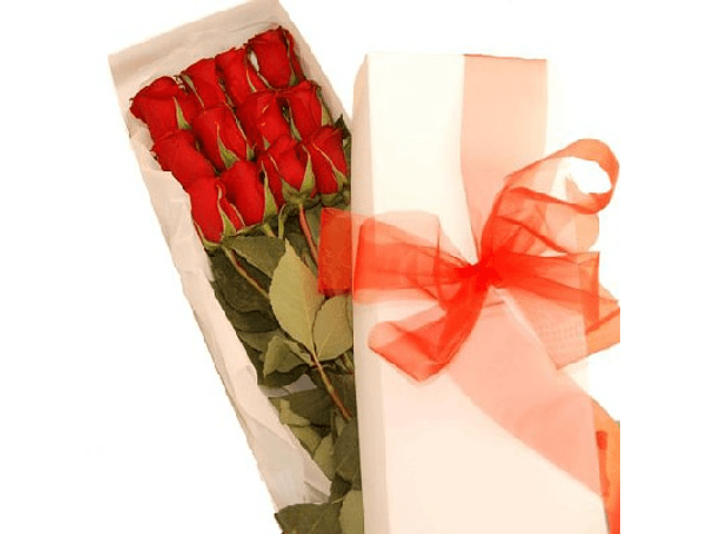 Caja de 12 Rosas